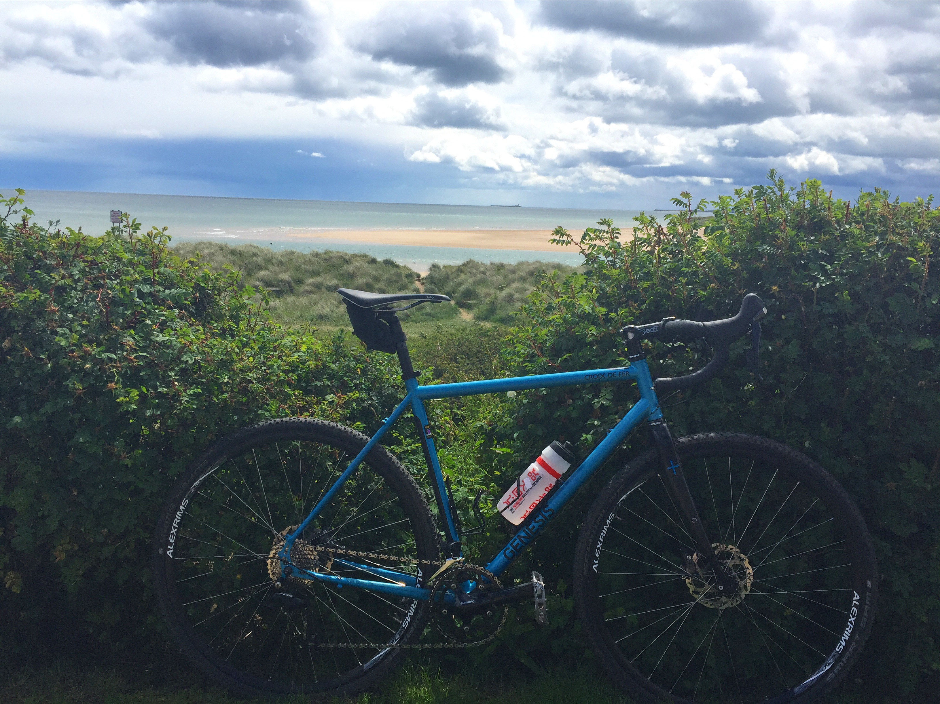 Cross bike at Alnmouth