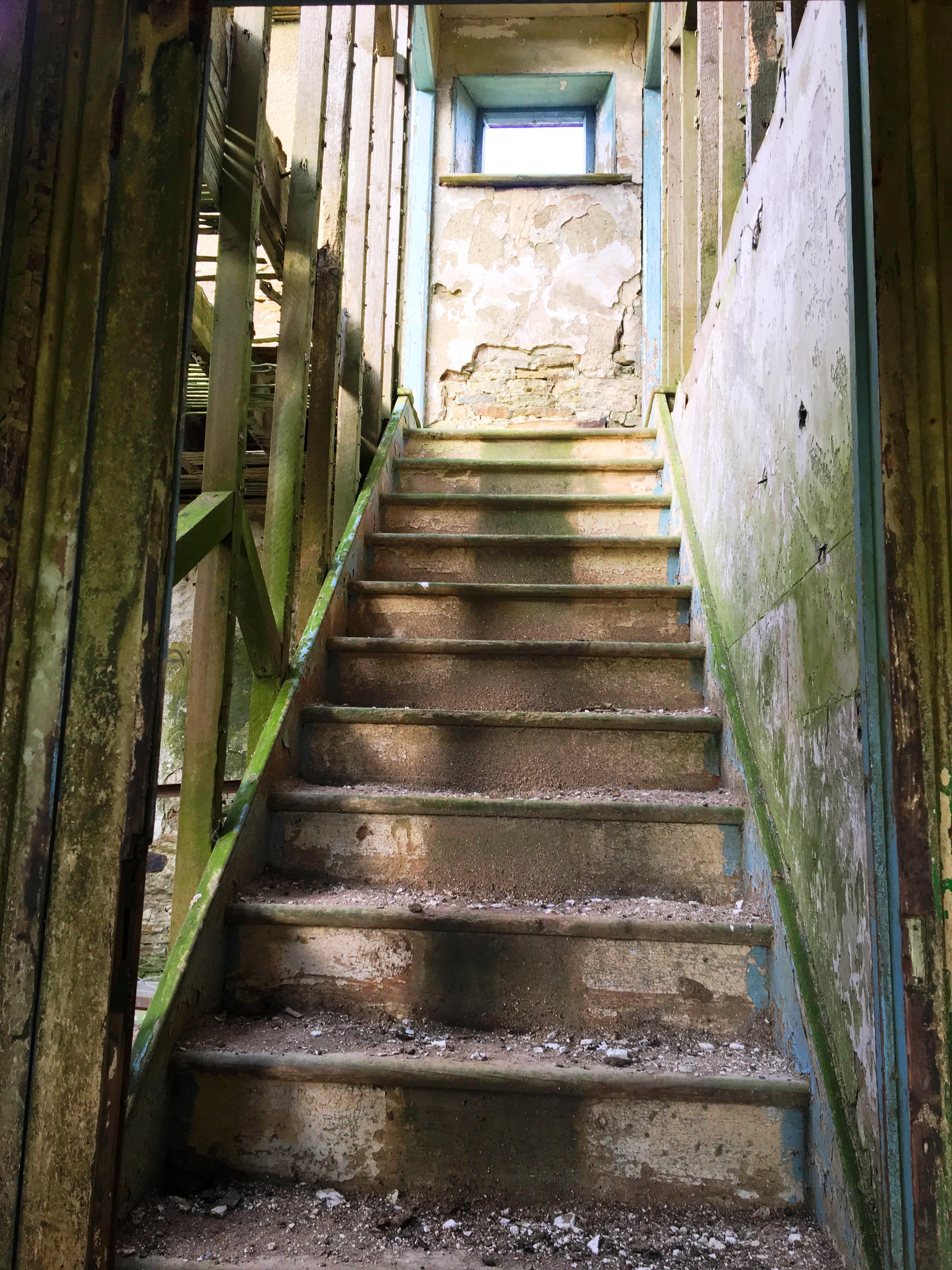 Staircase at Sandyford abandoned farmhousenear Edmundbyers